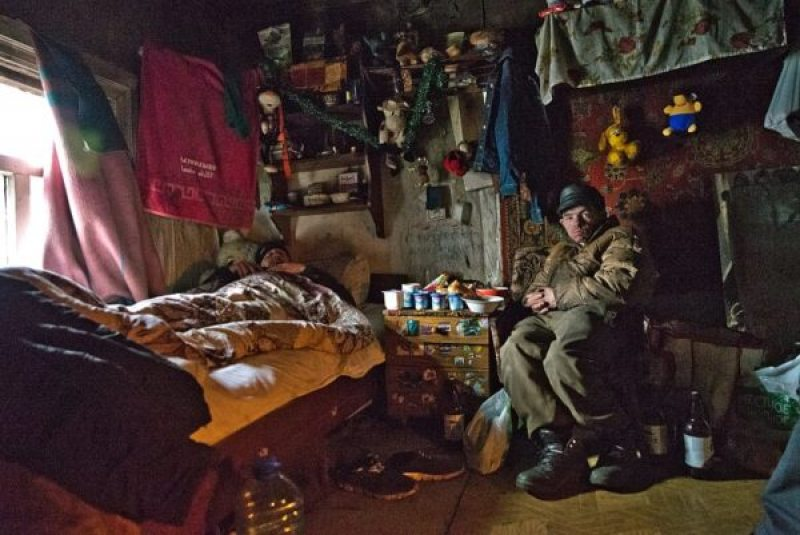 A homeless man in the Minsk shelter. Photo: Marco Fieber