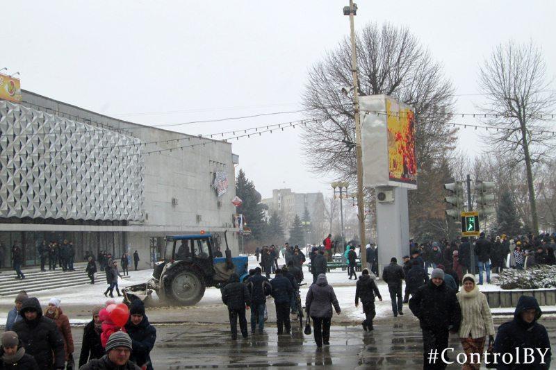 Акцыя пратэсту ў Баранавічах 26 лютага 2017 года.