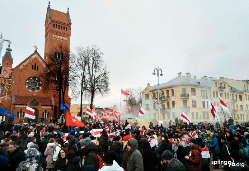 Акцыя ў Мінску 7 снежня 2019 года.