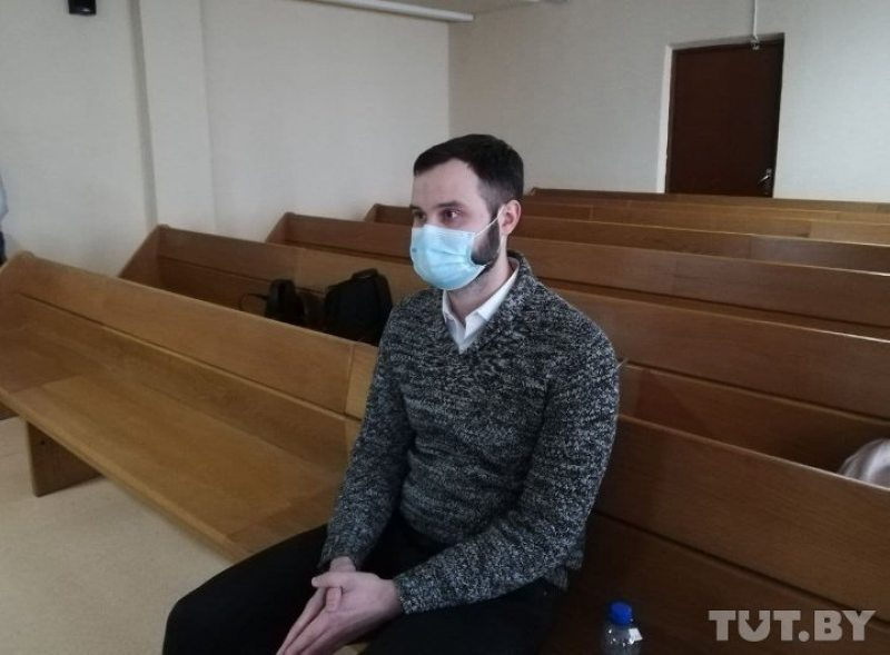 Иван Артус в суде. Фото: TUT.BY