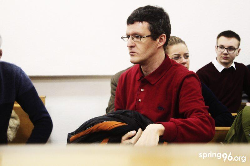 Журналіст Дзяніс Івашын.