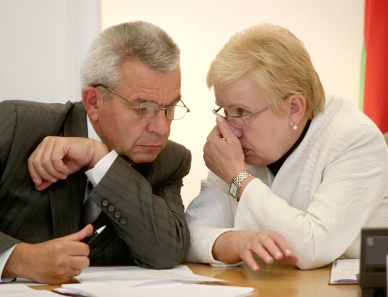 Мікалай Лазавік і Лідзія Ярмошына. Фота: belgazeta.by
