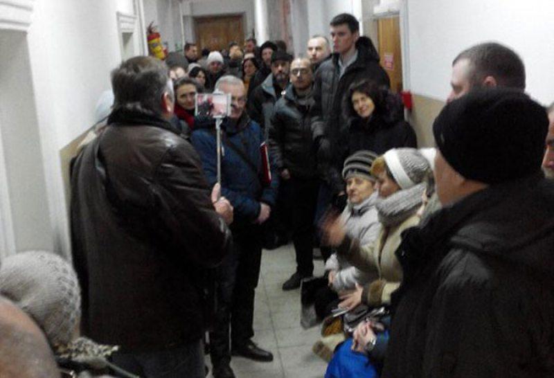 Перад пачаткам суду над А. Кабанавым.