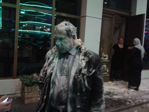 Igor Kalyapin following an attack in Grozny on 16 March 2016