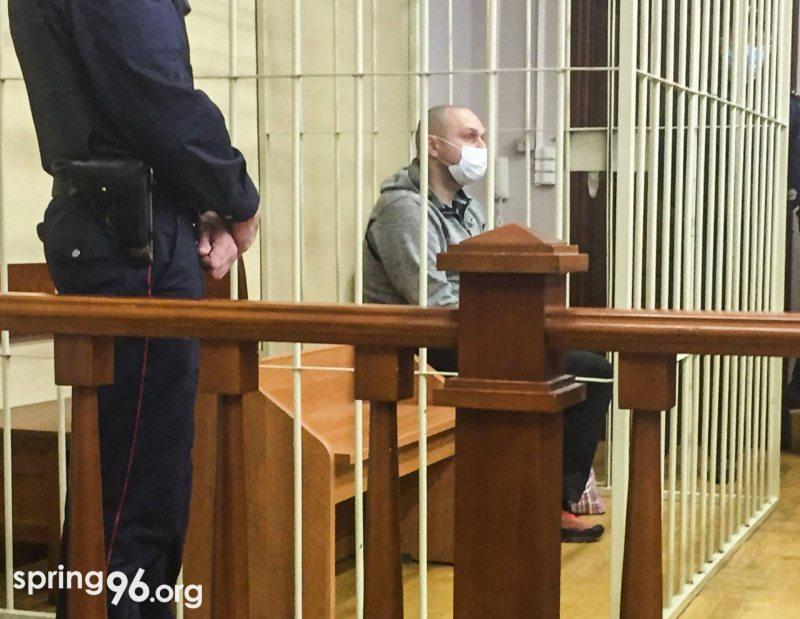 Сергей Капанец в суде 13 мая. Фото: spring96.org