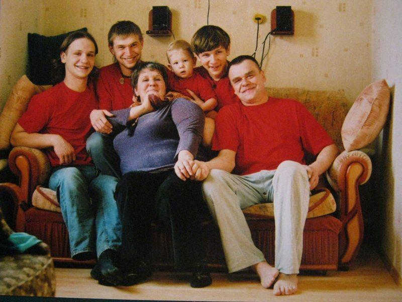 Таццяна Канеўская з сям'ёй. Фота з сямейнага архіва