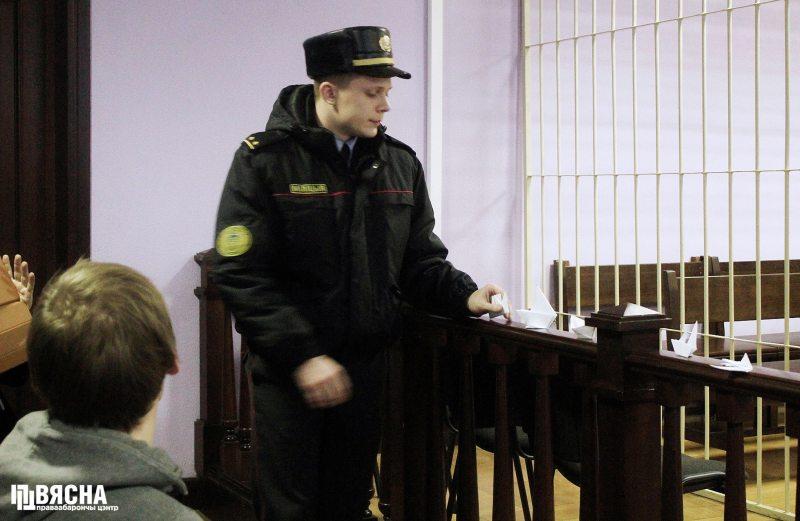 Караблікі ў судзе Цэнтральнагат раёна.