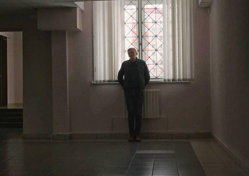 Арцём Касавараў у судзе Маскоўскага раёна. 23 сакавіка 2018 г.
