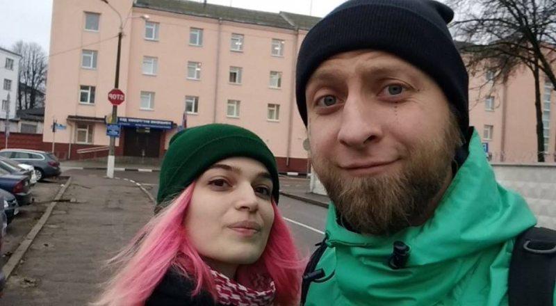 Актывісты Вячаслаў Касінераў і Марына Насенка. Фота з фэйсбуку