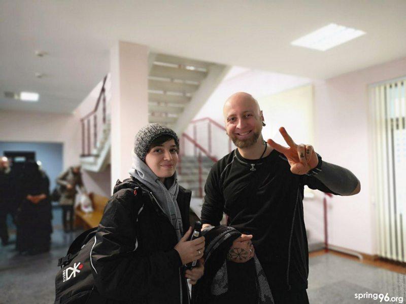 Марына і Вячаслаў Касінеравы на судзе 8 студзеня