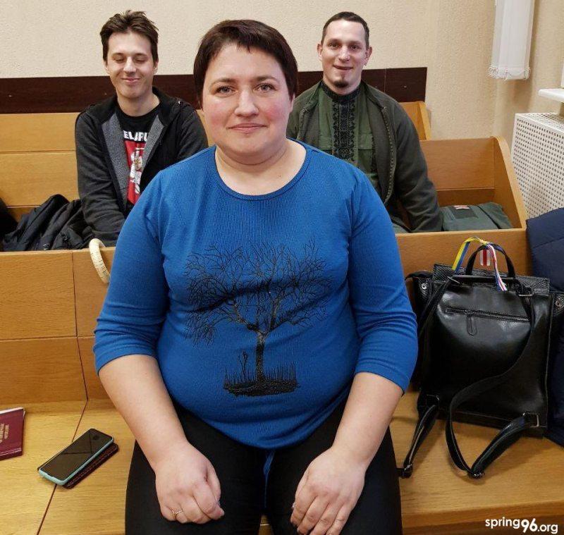 Святлана Каваленка ў судзе 10 студзеня