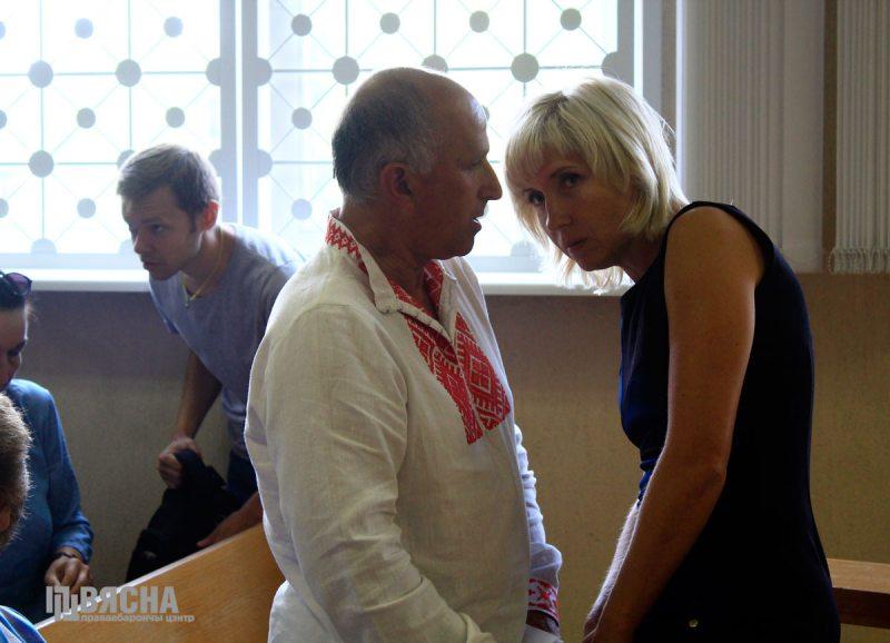 Игорь Комлик и Людмила Казак в суде. Фото: ПЦ