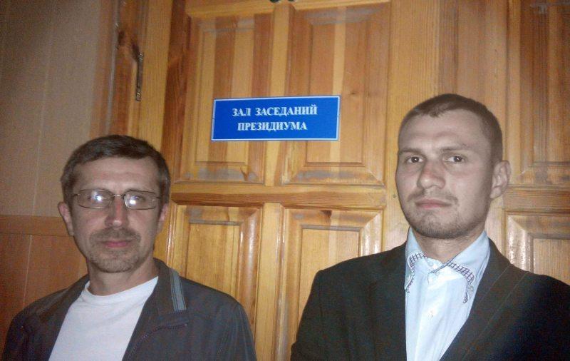 Уладзімер Казлоўскіі Аляксей Самайлюк у судзе.