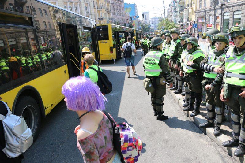 Дзеянні паліцыі пад час «Маршу роўнасці» ў Кіеве 18 чэрвеня. Фота ПЦ