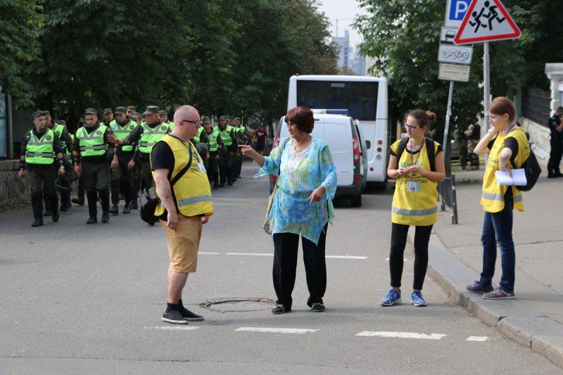 Наліральнікі пад час «Маршу роўнасці» ў Кіеве 18 чэрвеня. Фота ПЦ