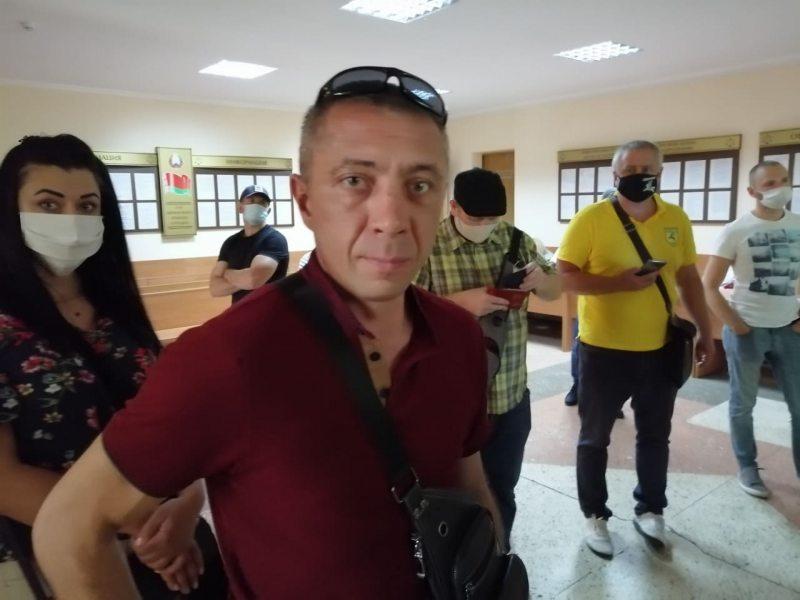Евгений Климук в день своего судебного заседания. Фото: