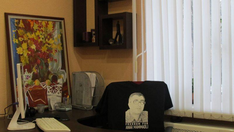 Напамін пра палітвязня ў Азербайджане ў офісе