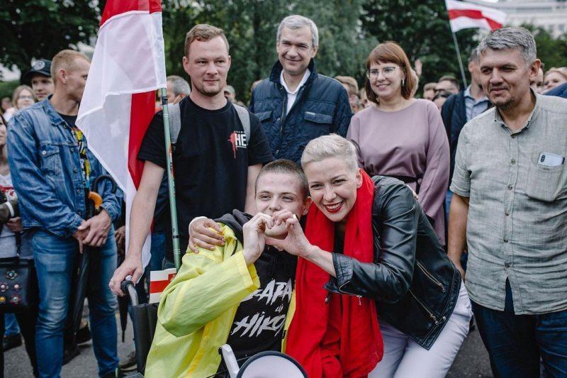 Іван Красоўскі з Марыяй Калеснікавай