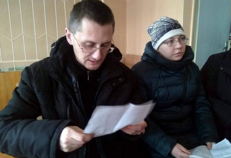 Алесь Круткін і Наталля Спірыдонава ў судзе 28 студзеня. Фота