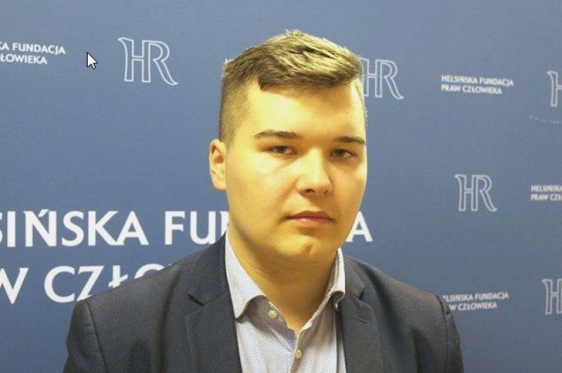 Юрась Лукашэвіч, старшыня Моладзі БНФ. Фота: Польскае Радыё