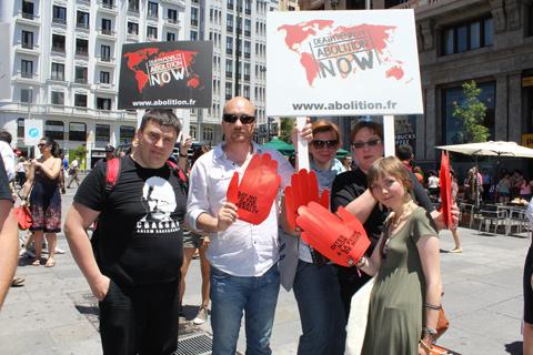 """Human Rights Defenders against the Death Penalty in Belarus"". Madrid, June 15, 2013."