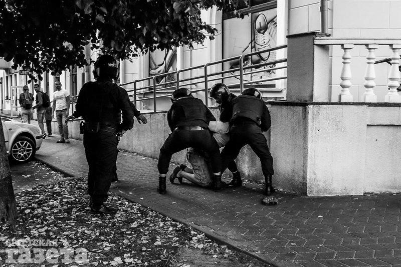 Задержания в Бресте 20 сентября. Фото – Олег Полищук
