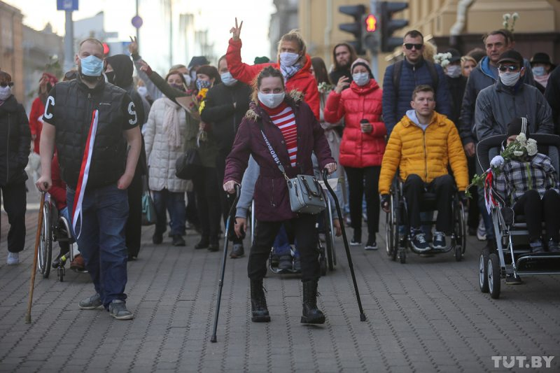 Марш людзей з інваліднасцю 15 кастрычніка. Фота: TUT.BY