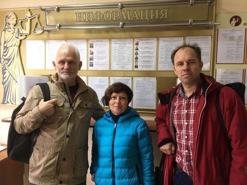 Алесь Бяляцкі, Алена Маслюкова, Зміцер Салаўёў.
