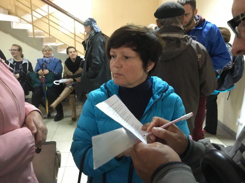 Алена Маслюкова ў судзе. Фота: ПЦ