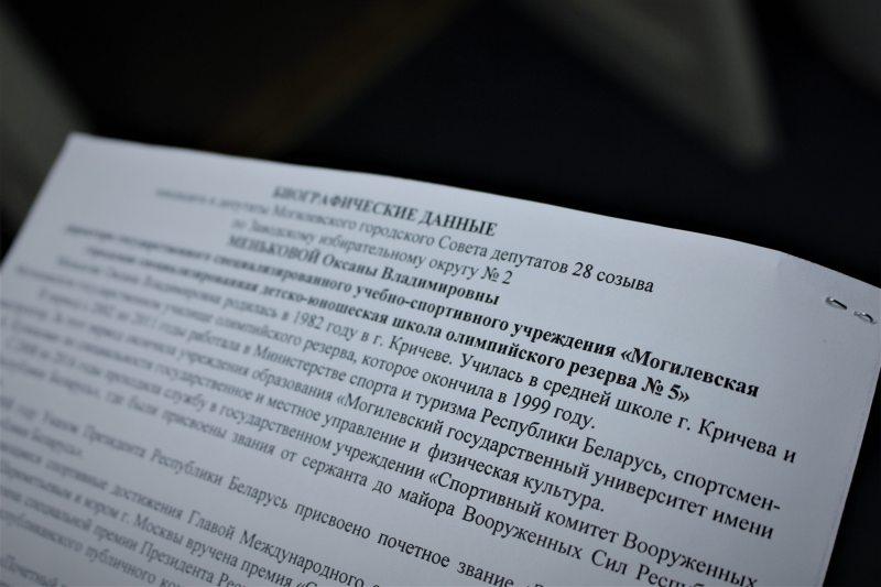 Агітацыйныя матэрыялы Аксаны Меньковай.Фота: mspring.online