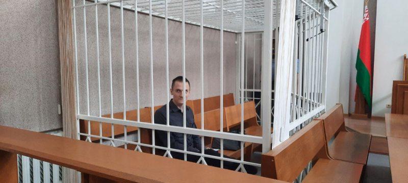 Николай Дедок в суде. Фото: @lgbelarussegodnya