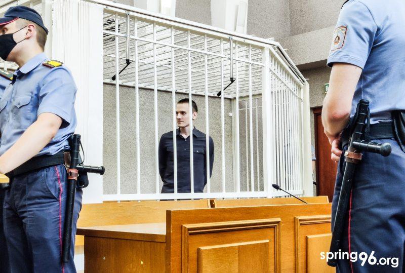 Николай Дедок в суде. Фото: spring96.org