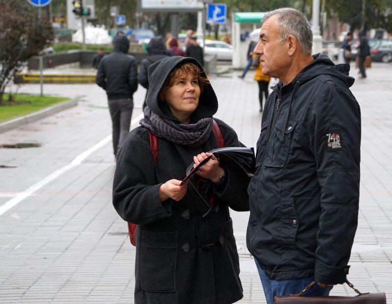 Інфармацыйная акцыя супраць смяротнага пакарання ў Мінску 10 кастрычніка 2017 года.