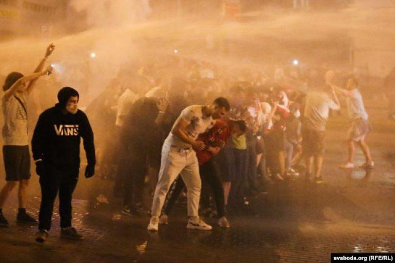 Протест в Минске, 9 августа. Фото: