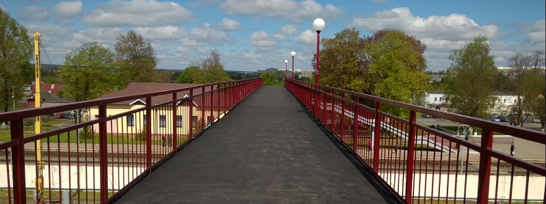 Мост через железную дорогу. Волковысск
