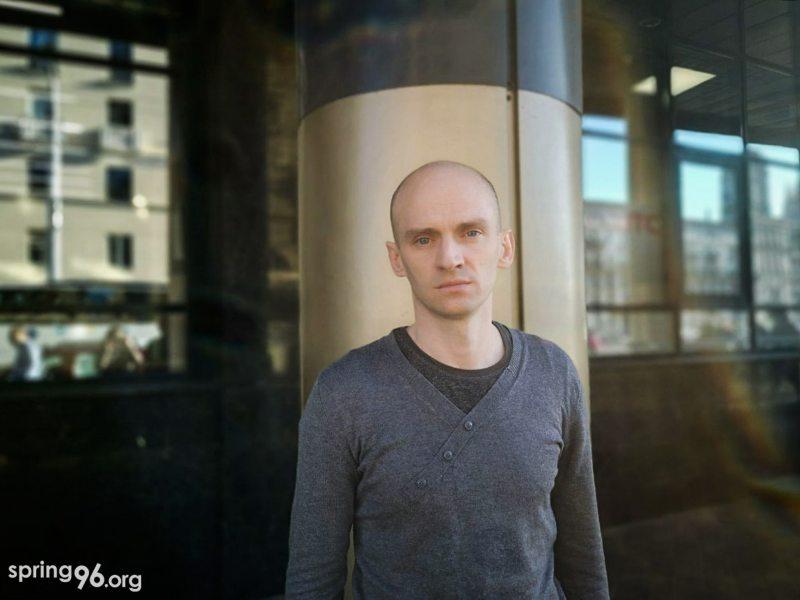 Палітвязень Васіль Баброўскі пасля вызвалення 9 ліпеня. Фота: spring96.org