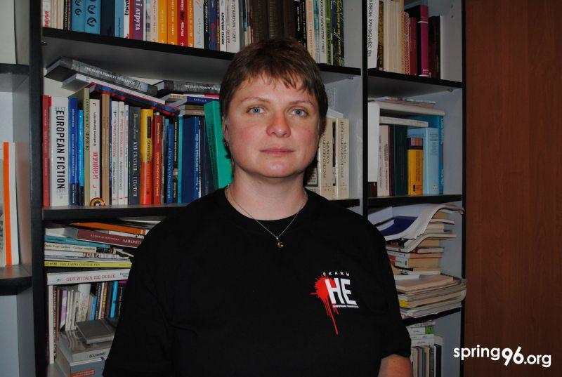 Татьяна Недбай, глава белорусского ПЕН-центра. Фото: ПЦ