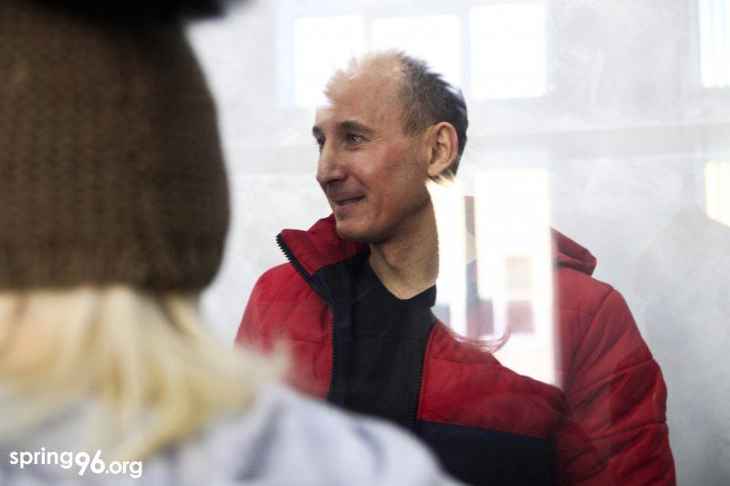 Политзаключенный Владимир Неронский в суде 20 января. Фото: spring96.org