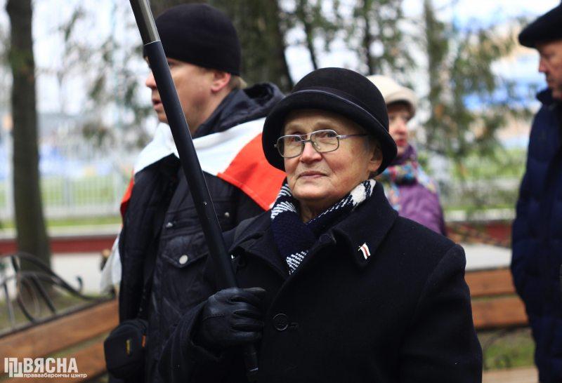 Ніна Багінская на мітынгу ў Слуцку 24 лістапада 2018 г.