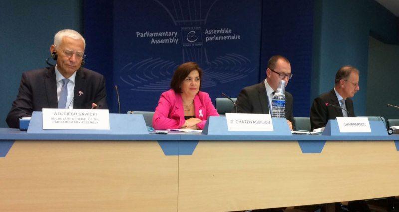Заседание комитета по политическим вопросам и демократии ПАСЕ 10 октября в Страсбурге. Фото из соцсетей Виталия Рымашевского