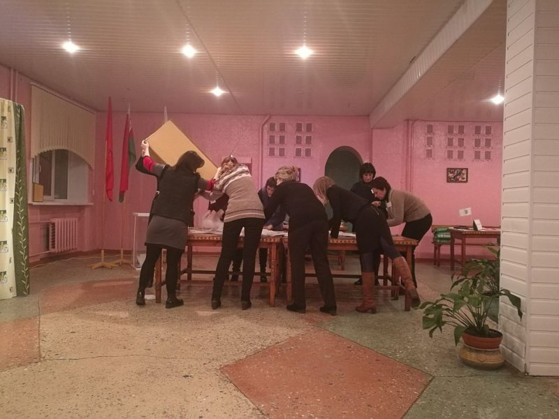 Так считают голоса в Бобруйске.