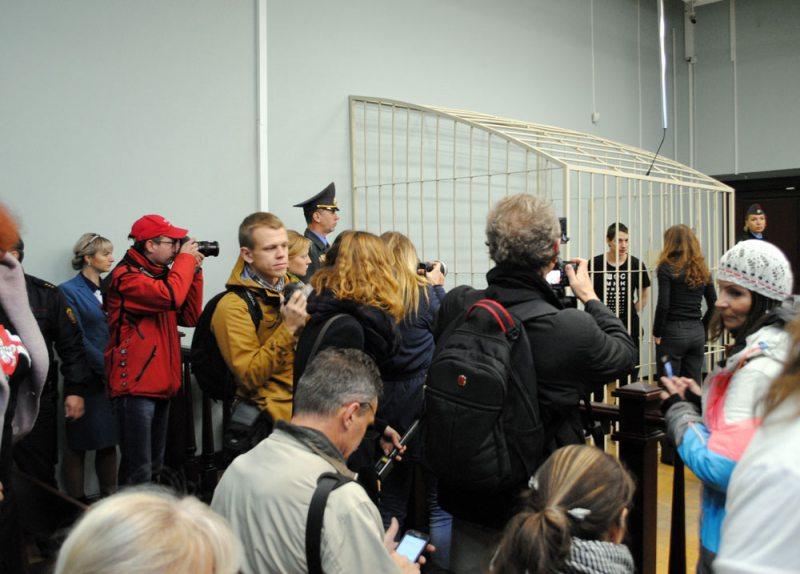 Пад час суду над Зміцерам Паліенкам 12 кастрычніка
