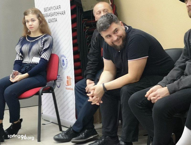 Андрэй Палуда на трэнінге