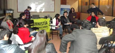 Адзін з семінараў Amnesty International у Калумбіі.