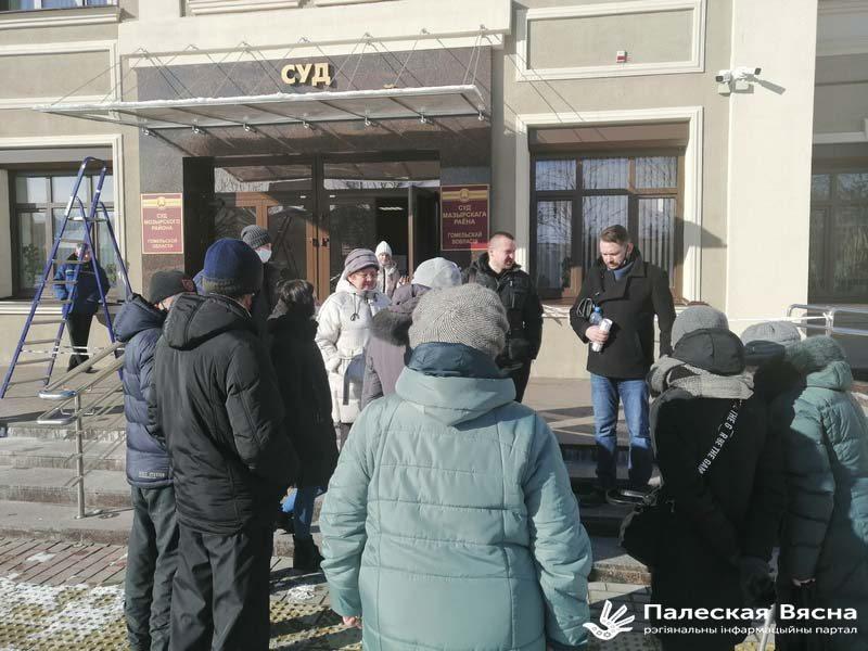 Суд над Русланам Парфёнавым. Фота: Палеская Вясна