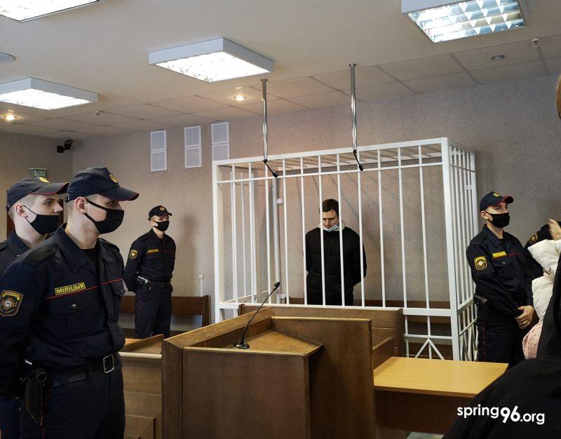 Блогер Павел Спирин после судебного заседания 1 февраля