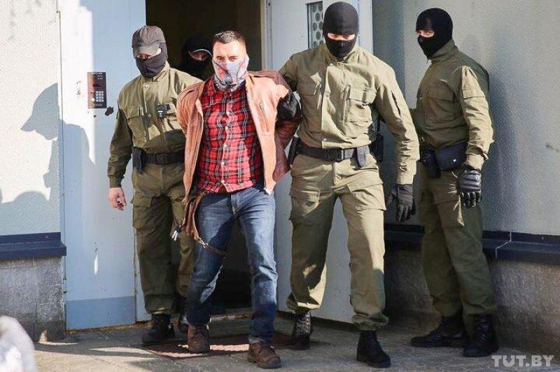 Степан Латыпов при задержании 15 сентября. Фото: TUT.BY