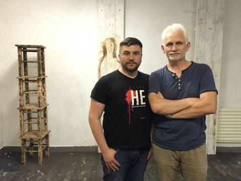 Андрэй Палуда і Алесь Бяляцкі.