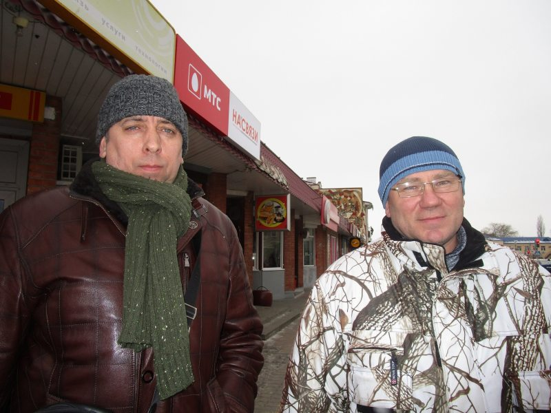 Сяргей Пятрухін і Аляксандр Кабанаў. Фота: Беларускае Радыё Рацыя.
