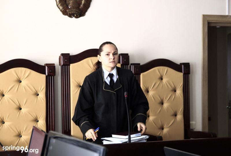 Суддзя Вікторыя Паляшчук. Фота: spring96.org